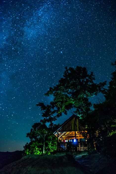astronomy dark evening galaxy